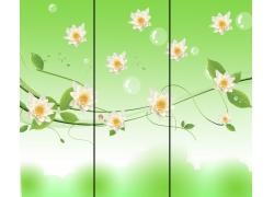 移门图案花朵泡泡