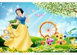 童话公主移门素材