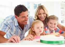 过生日的家庭人物摄影
