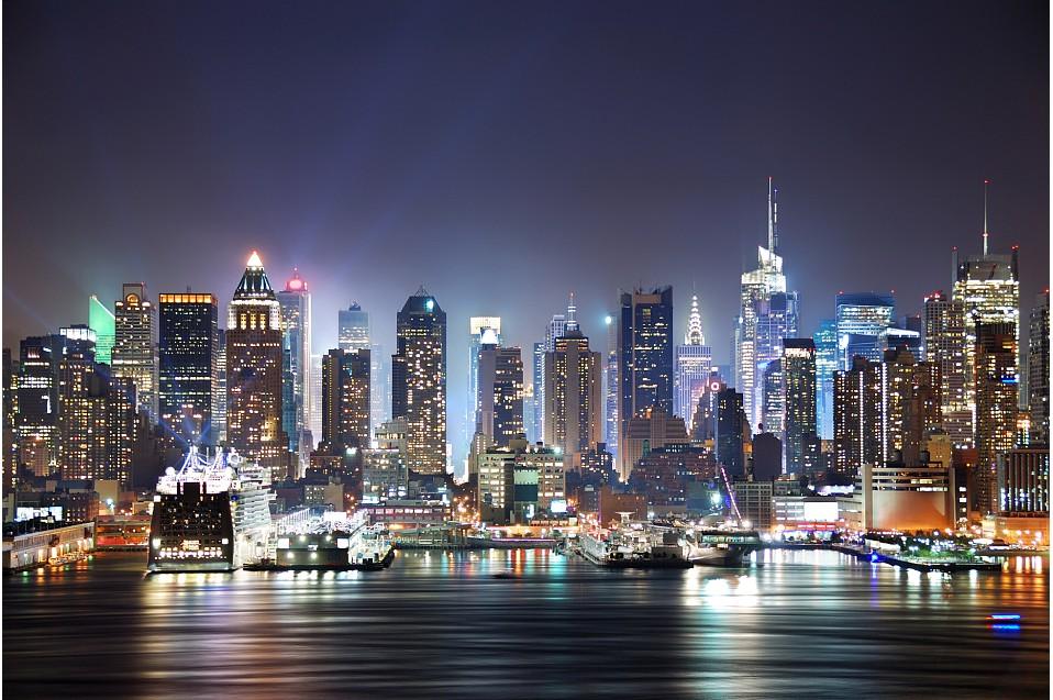 滨海城市夜景高清图片图片