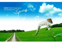 春天乡间风景图片