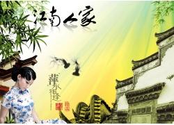 江南美女古典建筑