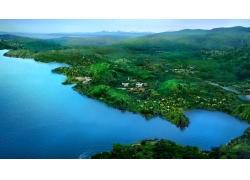 湖光山色优美风景素材