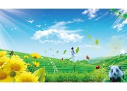 自然绿意风景素材