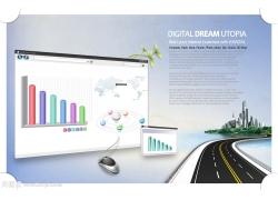 网页数据道路psd素材