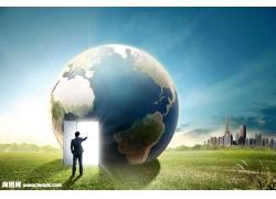 打开地球之门psd素材
