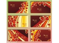 情人节名片卡片矢量图