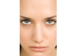 高清晰美女脸部特写图片