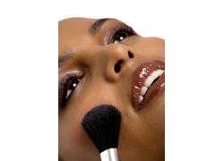 高清晰人物化妆脸部特写图片