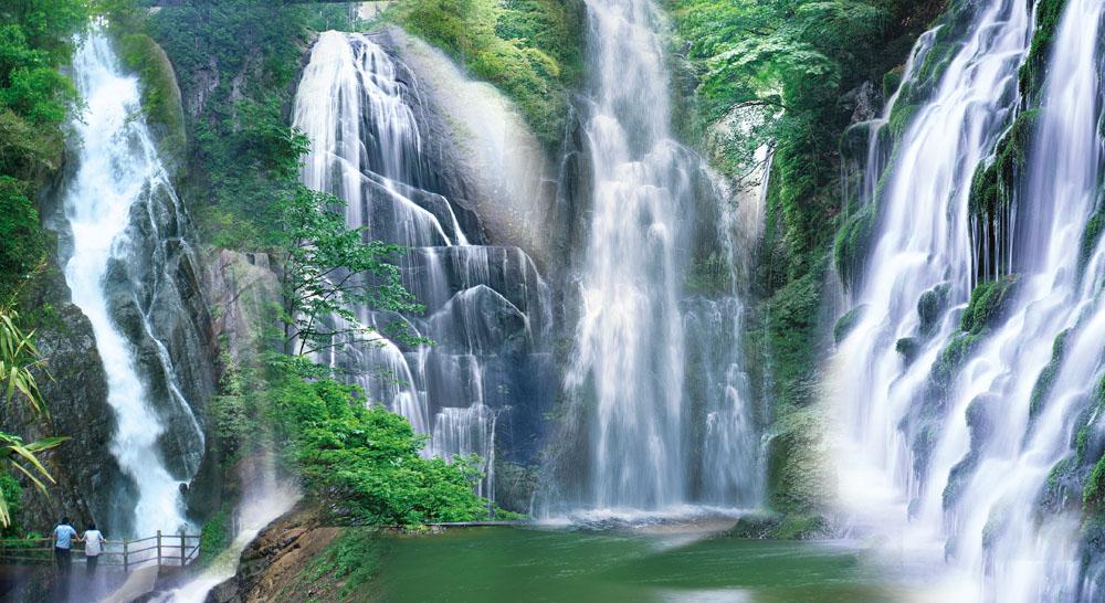 瀑布流水风景素材
