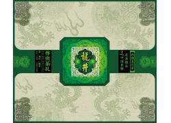 龙井茶包装盒设计PSD分层素材