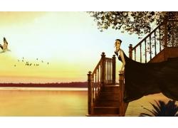 海边别墅房地产广告设计模板