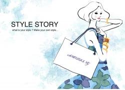 时尚购物卡通美女PSD分层素材