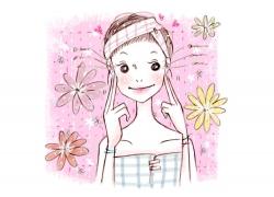 可爱卡通女孩插画PSD分层素材