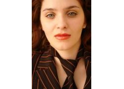红唇性感美女面部特写摄影