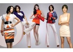 韩国美女PSD分层素材