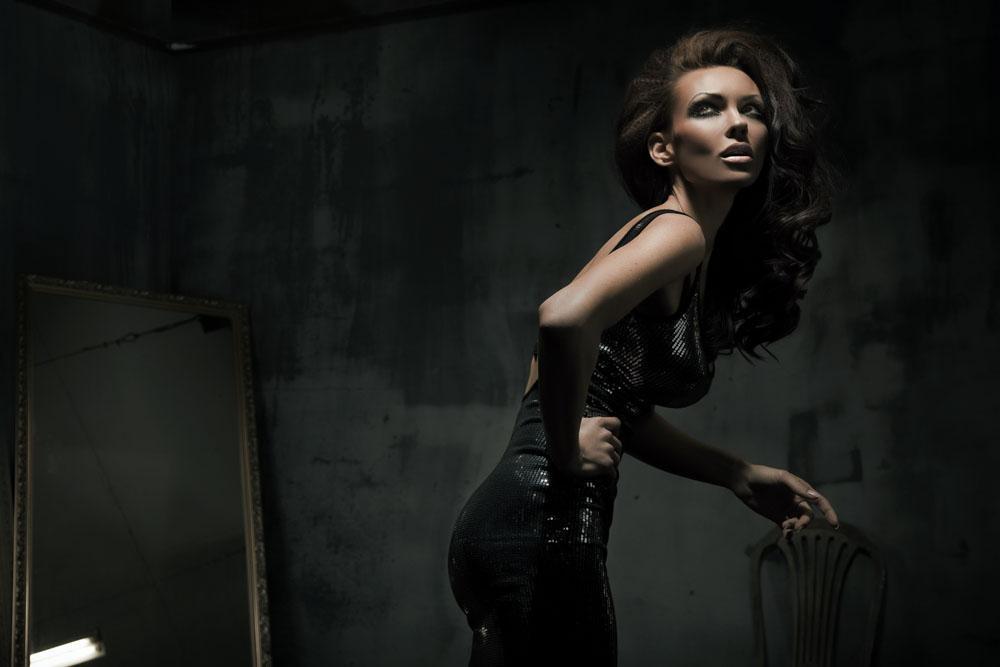 黑暗性感美女高清图片图片