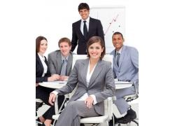 开心的商业团队人物图片06