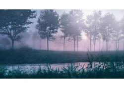 清晨风景PSD分层素材