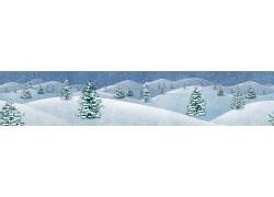 美丽雪景PSD分层素材