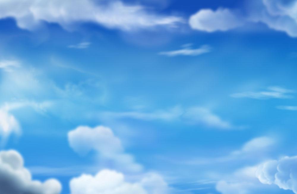 蓝天白云PSD分层素材