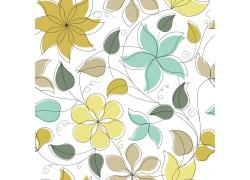 线稿鲜花底纹
