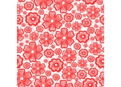红色鲜花底纹