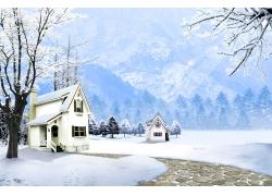 白雪世界 冬天风景