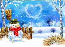 冬天风景画