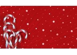红色圣诞背景