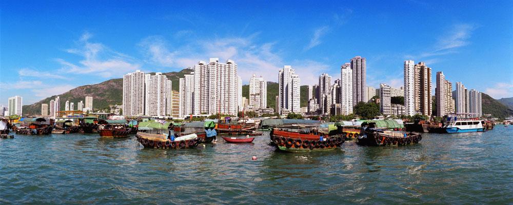 海边城市风景摄影图片