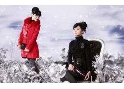 时尚冬装服装模特美女