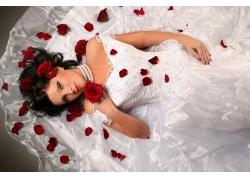 玫瑰花与新娘