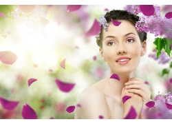 化妆品广告模特美女