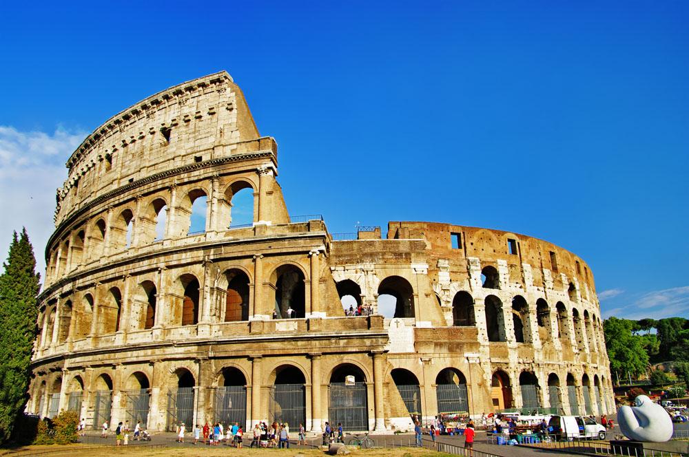 罗马角斗场高清摄影图图片