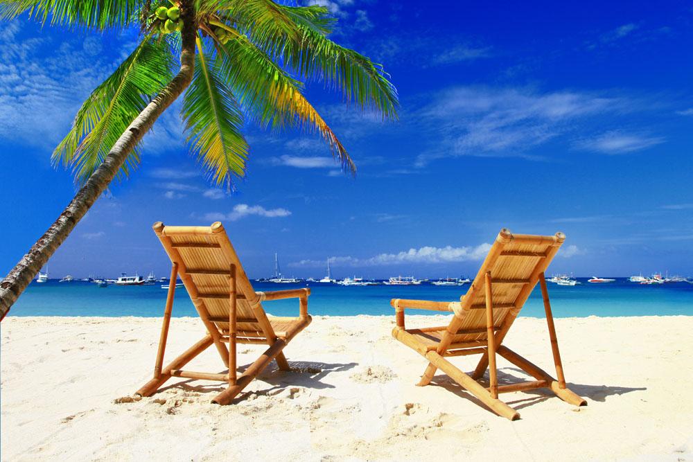海边沙滩高清摄影图图片
