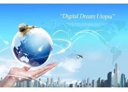 企业科技展板背景