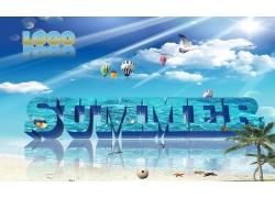 激情夏日海报设计