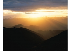 夕阳西下自然风景
