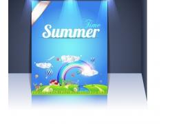 夏季促销海报模板