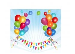 喜庆气球矢量图片