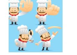 卡通厨师设计素材
