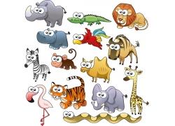 卡通动物设计素材