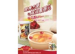 红枣枸杞木瓜易拉罐银耳海报模板