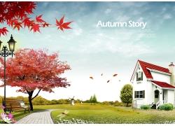 美丽秋天风景