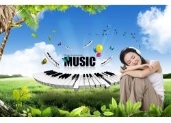 音乐创意海报