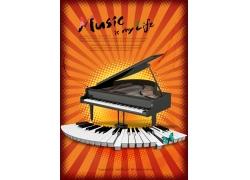 钢琴创意海报