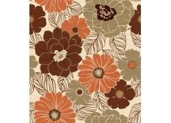鲜花花纹背景素材