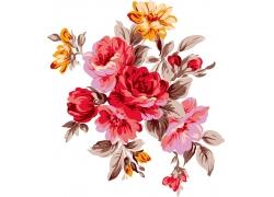 工笔画花朵