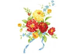 手绘鲜花图